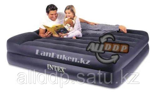 Надувной матрас Intex 203* 152* 42 см 66702 (2-х местный) (встроенный насос)