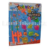 Детский игровой магнитный набор рыбалка с двумя удочками