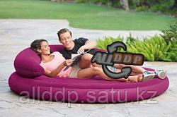 Двуспальный надувной матрас диван Intex 68881