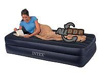 Односпальная надувная кровать-матрас 191х99х42 см со встроенным насосом Intex 64122