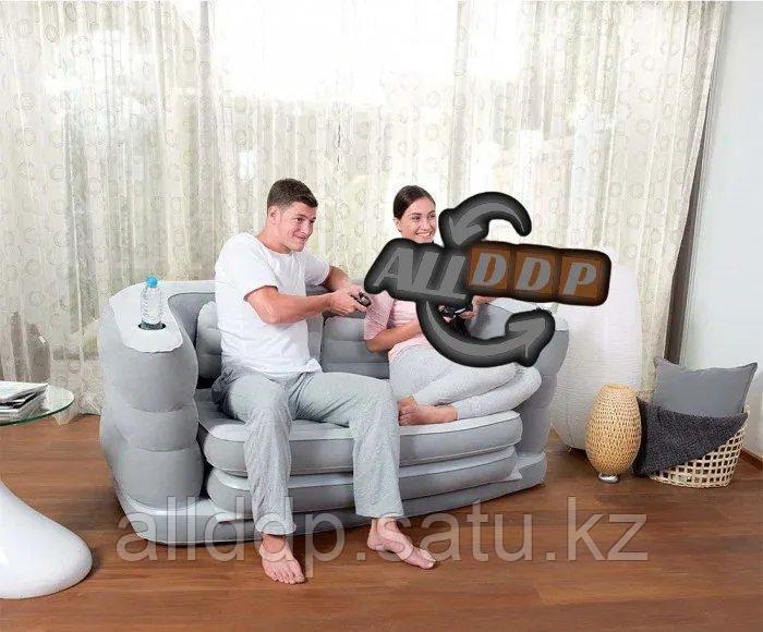 Надувной диван матрас 2 в 1 Bestway 75063 200* 160* 64 см