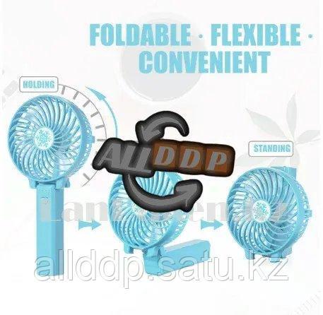 Портативный ручной вентилятор на батарейках складной