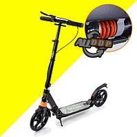 Городской самокат складной с двумя амортизаторами и ручным тормозом City Riding Nanrobot черный