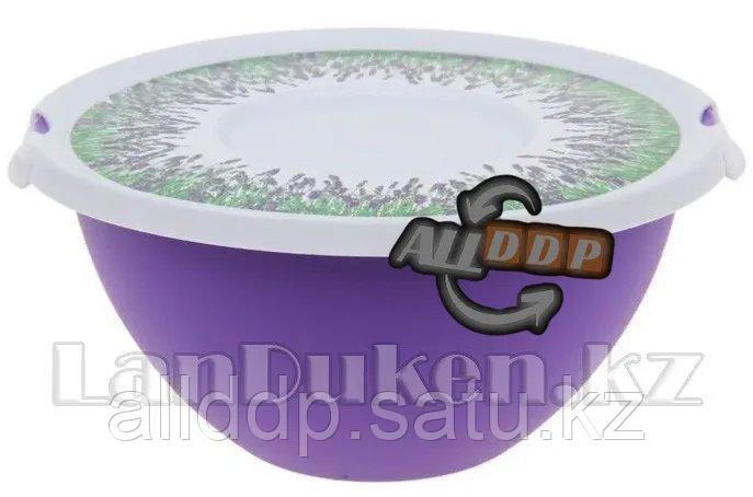 "Миска с крышкой для кухни ""Лаванда"" 2 л. 35608 (003)"