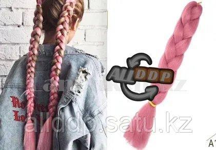 Канекалон накладные волосы одноцветные 60 см Перламутрово розовый А17