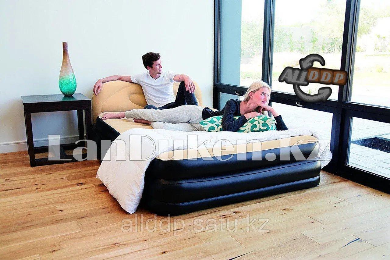 Надувной матрас кровать со спинкой 67483 226x152x74 см Bestway (встроенный насос)