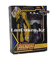 Набор Мстители (Avengers) фигурка героя (Черная Пантера) и Перчатка бесконечности
