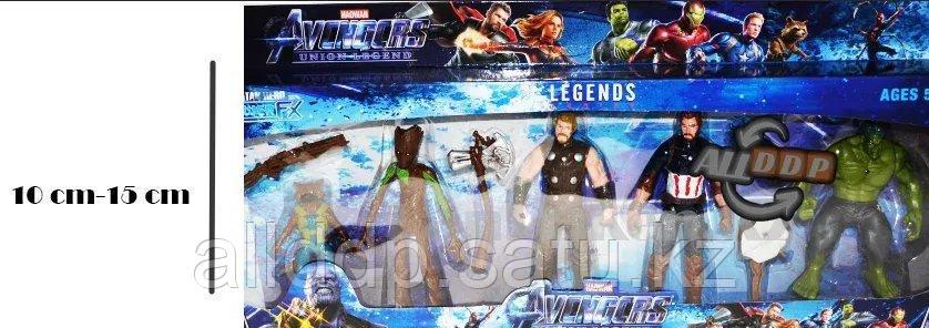 Мстители (Avengers) набор фигурок (Халк, Капитан Америка, Тор, Грут и Ракета из стражей галактики)