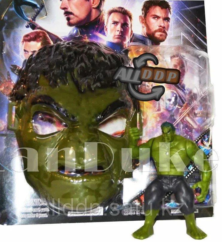Набор детская маска и фигурка Халк 15 см серия Мстители