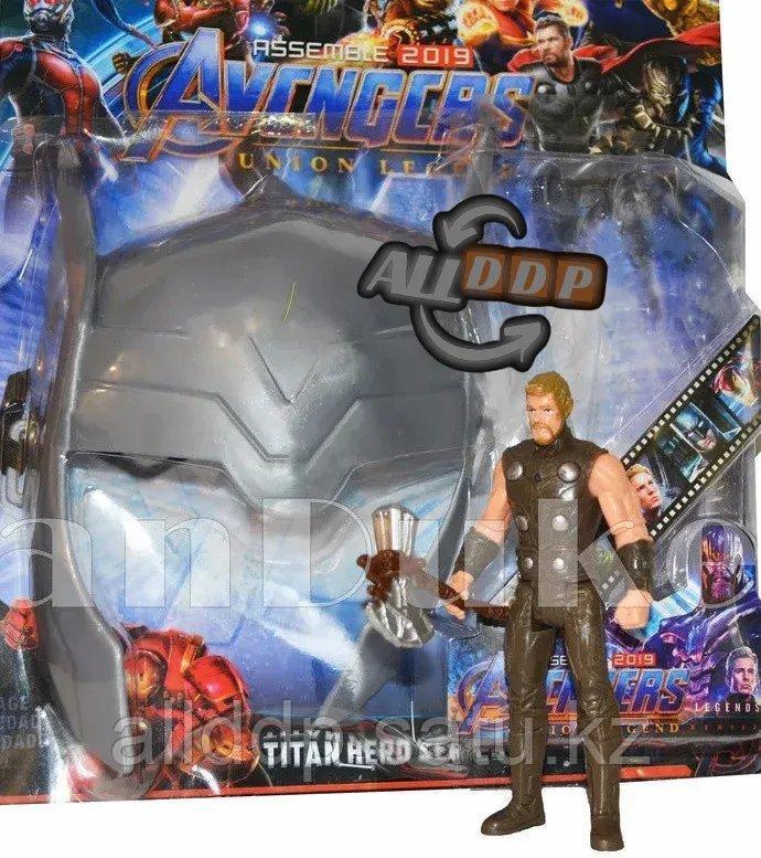 Набор детская маска и фигурка Тор 15 см серия Мстители