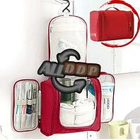 Органайзер для хранения косметики и аксессуаров складной подвесной Wosh bag красный