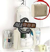 Органайзер для хранения косметики и аксессуаров складной подвесной Wosh bag бежевый