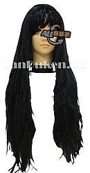 Парик ведьмы с челкой 92 см черный