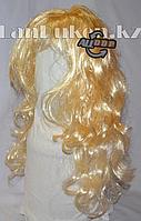 """Парик Блонд с челкой """"Легкие локоны"""" 60 см"""
