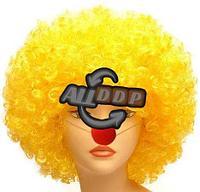 Парик карнавальный для клоуна объемный желтый