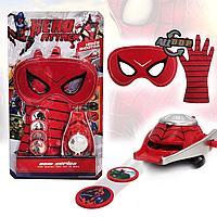 Игровой набор Человек паук Spider man с бластером маской и перчаткой WL51187A