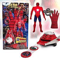 Игровой набор Человек паук Spider man с бластером фигуркой со световым индикатором и перчаткой WL11192A-G