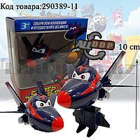 """Трансформер игрушечный из серии """"Супер крылья"""" (Super Wings) Чейз 10 см"""