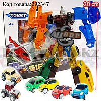 Игрушка детская трансформер Тобот Мини Тритан 7 машинок Tobot Mini Tritan Giga 7 No 339-7C