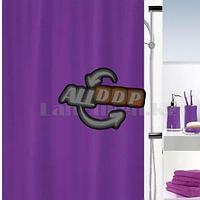Водонепроницаемая тканевая шторка для ванной HangJie фиолетовая 180*180 см 888