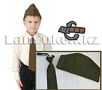 Пилотка военная и галстук на резинке