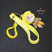 Брелок подвеска на сумку и ключи пластиковый карабин и фигурка Наруто