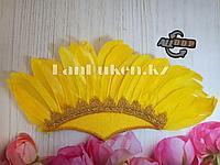 Бразильские перья головной убор желтый