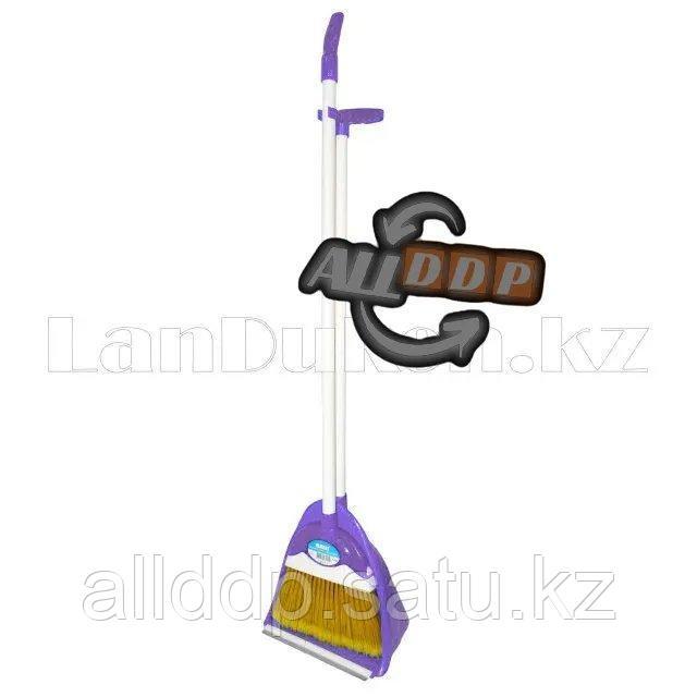 Комплект совок и метла фиолетовый