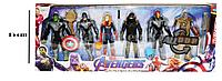 Мстители (Avengers) набор фигурок (Капитан Марвел, Железный человек, Халк, Соколиный глаз, Танос)