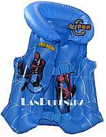 """Надувной спасательный жилет для плавания """"ЧЕЛОВЕК ПАУК"""" (SWIM VEST синий)"""