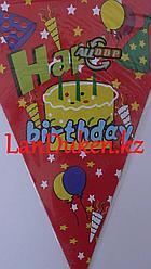 """Детские флажки """"Happy birthday"""""""