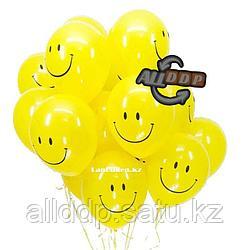 Воздушные шары желтые Quarter Pounder (Смайлики)