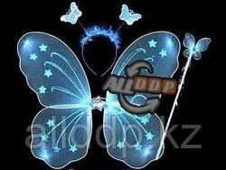 Набор феи крылья и волшебная палочка (голубой)