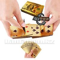 Покерные карты с золотым напылением Golden Premium dollar 54 Карты игральные сувенирные (цветной доллар)
