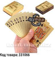 Покерные карты с золотым напылением Golden Premium dollar 54 Карты игральные сувенирные (золотой доллар)