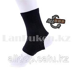 Эластичный компрессионный бандаж голеностопа черный