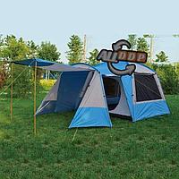 Четырехместная палатка водонепроницаемая двухслойная (90+120+240)x260x195 см Tuohai ART 1919
