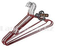Вешалка многофункциональная для одежды и аксессуаров металлическая красная