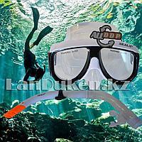 Набор для плавания Seals (дыхательная трубка и маска) черно-белый 00298