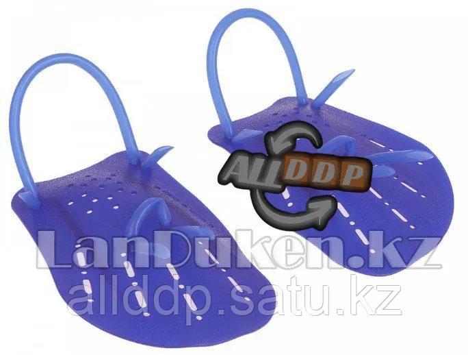 Лопатки гребные для плавания синие М (ласты для рук)
