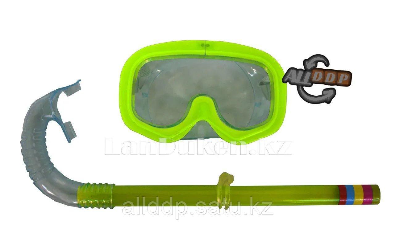Набор для плавания (дыхательная трубка и маска) желтый