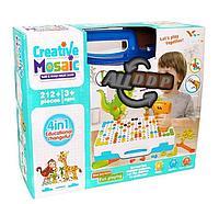 Набор для творчества конструктор мозаика с шуруповертом 4 в 1 Creative Mosaic 212 деталей YM004
