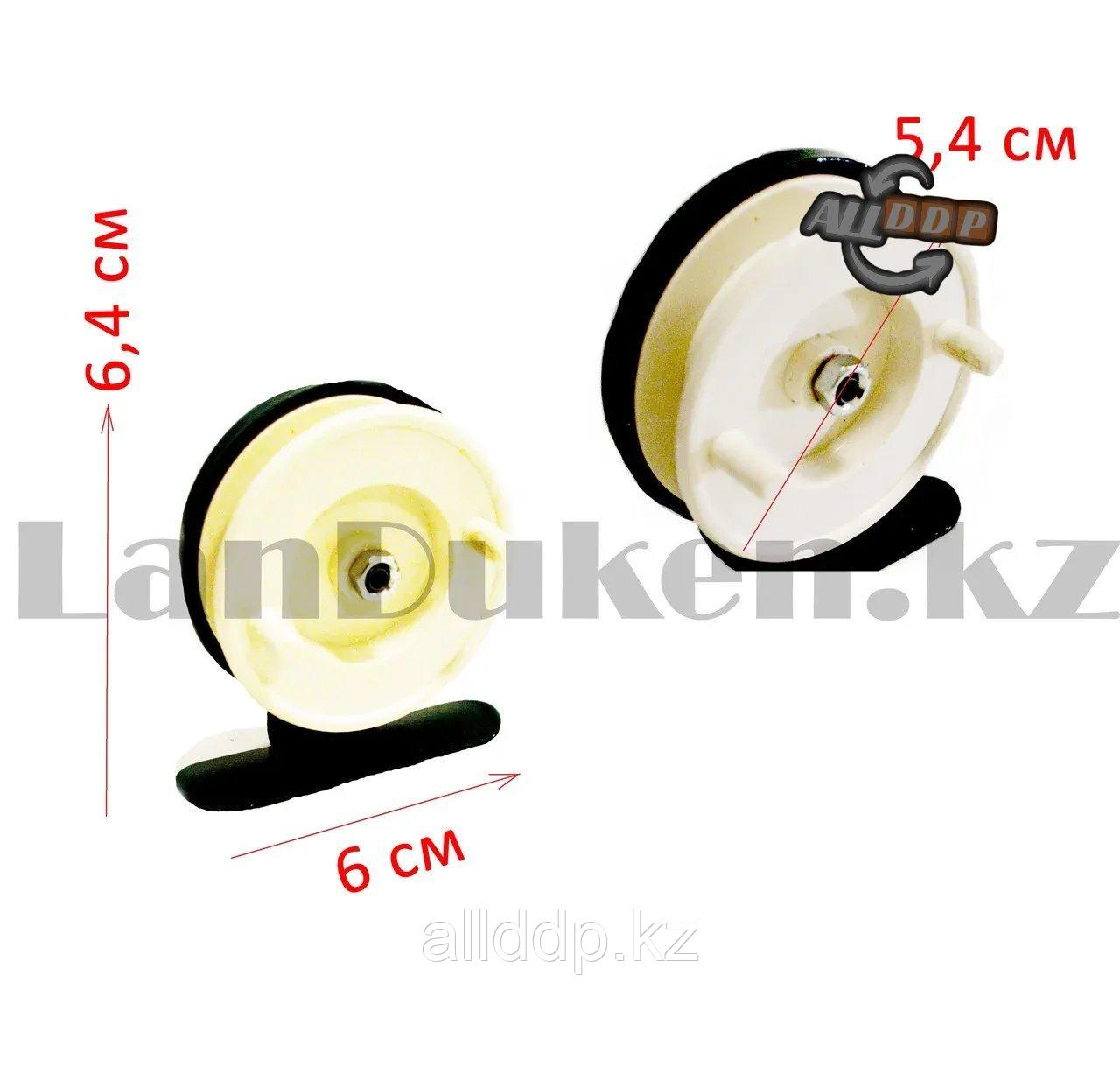 Инерционная катушка для удочки металлическая - фото 3