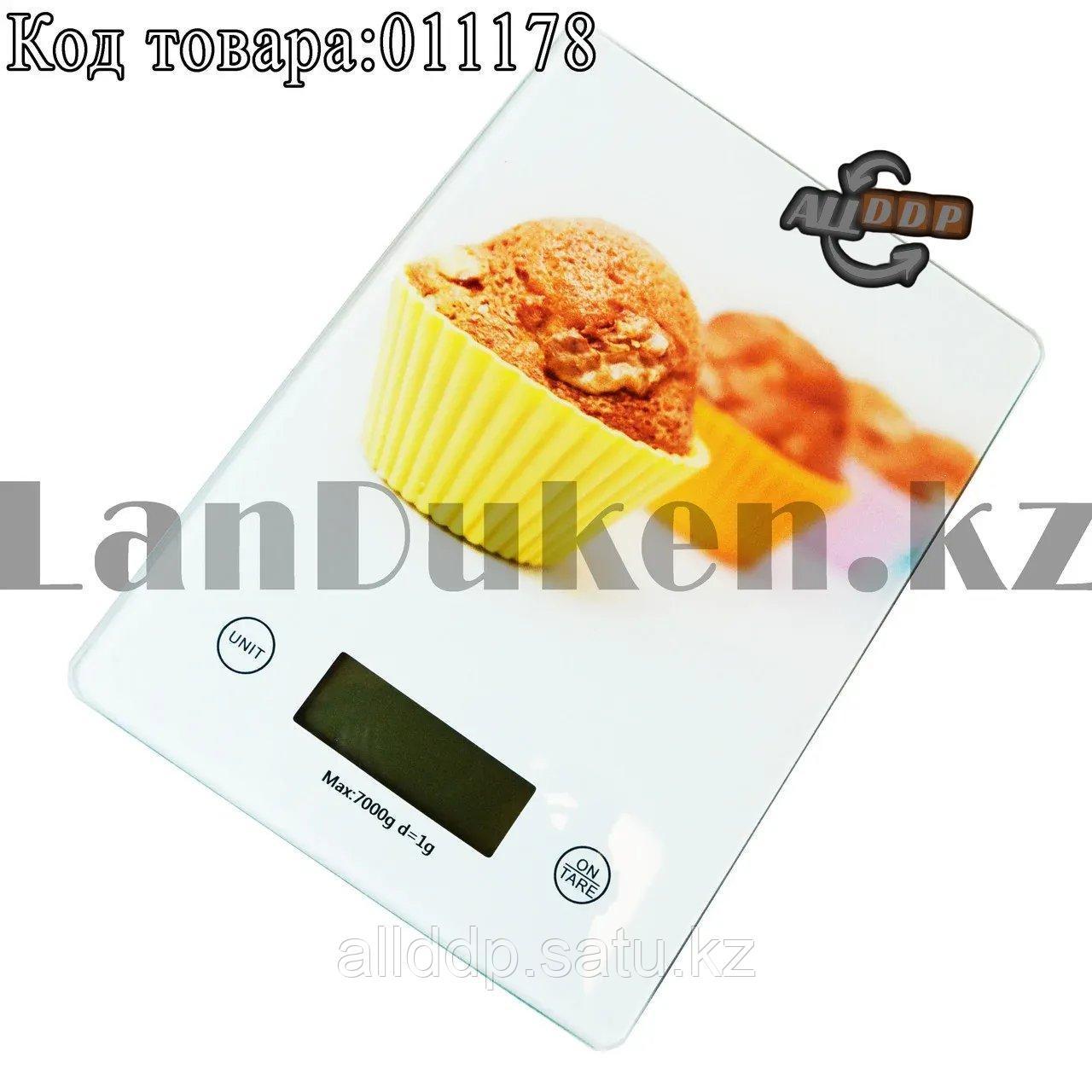 Кухонные электронные весы QR331 c рисунком пирожных