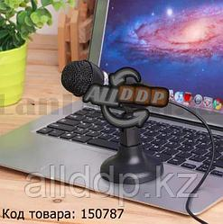 Универсальный конденсаторный микрофон с мини подставкой aux 3.5 мм YW-30