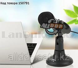 Универсальный конденсаторный микрофон гибкий проводной с мини подставкой aux 3.5 мм CanLeen СМ-211