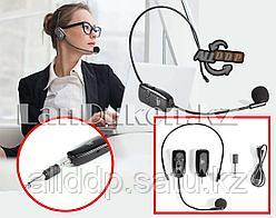 Головной беспроводной микрофон передатчик на ухе, разъем с переходником UHF