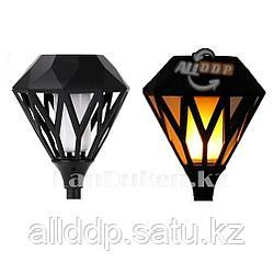 Декоративный солнечный водонепроницаемый фонарь факел (садовый светильник) c двумя креплениями Lamp 707, 65 см