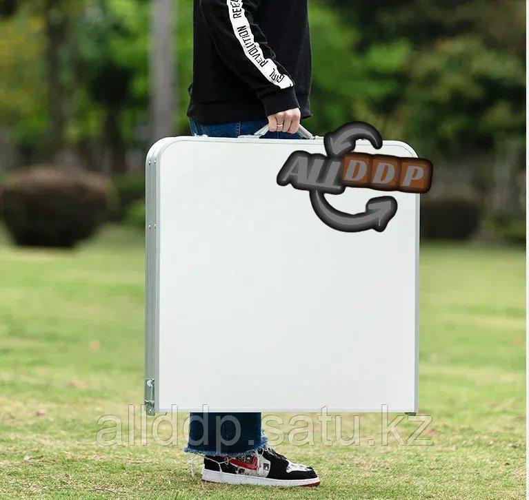 """Раскладной стол и стулья для пикника в чемодане Folding Table """"120* 60* 70 см"""" (туристический столик) светлый - фото 9"""