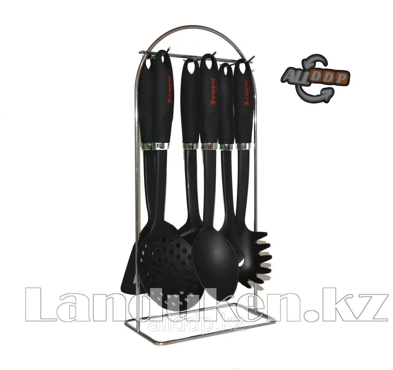 Набор кухонных аксессуаров Scovo 6 видов ложек + стойка